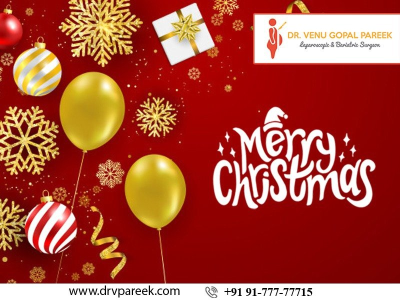 Happy Christmas wishes by Bariatric Surgeon India, One of the best Bariatric Surgery Hospitals in Hyderabad