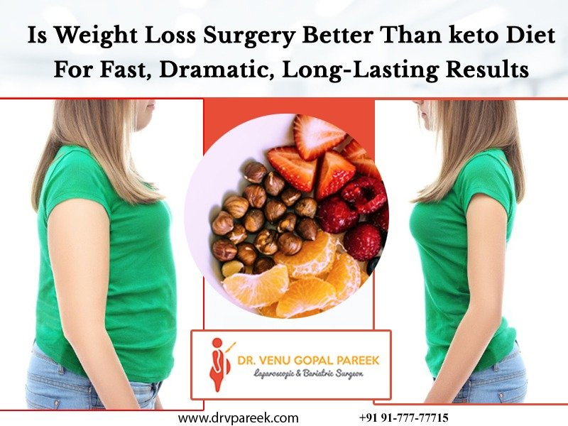 Contact Dr. Venugopal Pareek to know best one weight loss surgery or Keto diet, One of the best bariatric surgeons in Hyderabad