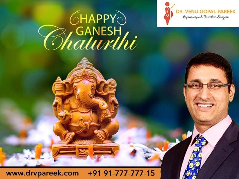 Happy Ganesh Chathurthi wishes by Dr. Venugopal Pareek, One of the best Bariatric surgeons in Hyderabad